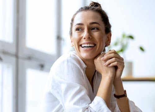 Smiling woman with great skin after TempSure® Envi treatments